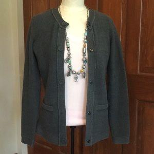 Dana Buchman grey cardigan sweater Sz XS